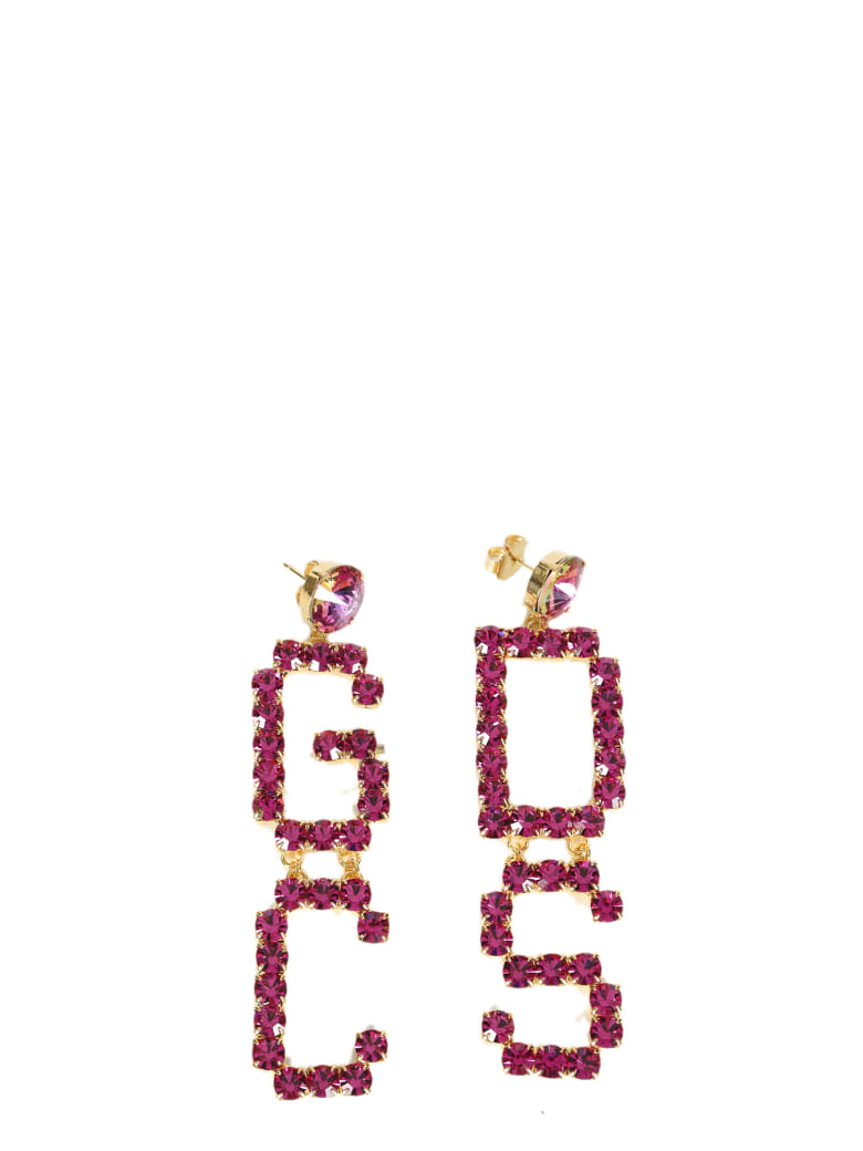GCDS Mix Strass Earrings - Fuxia