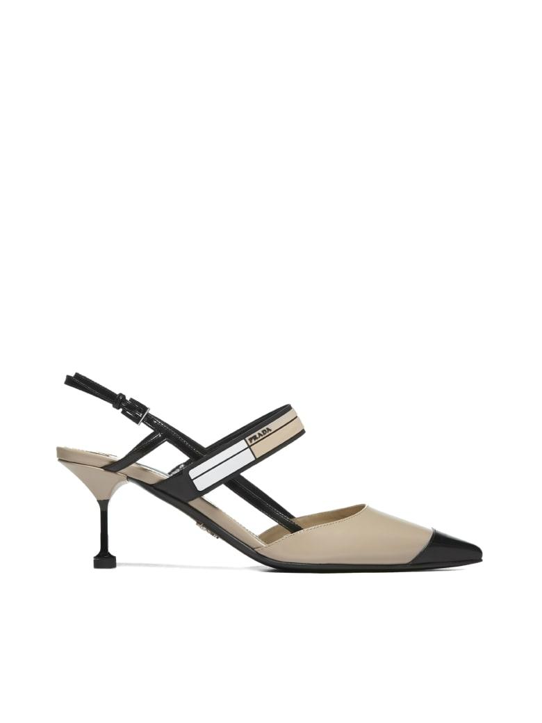 Prada High-heeled shoe - Beige nero