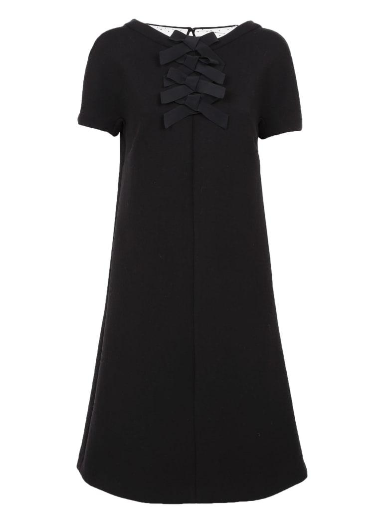 Rochas Ribbon Dress - Black