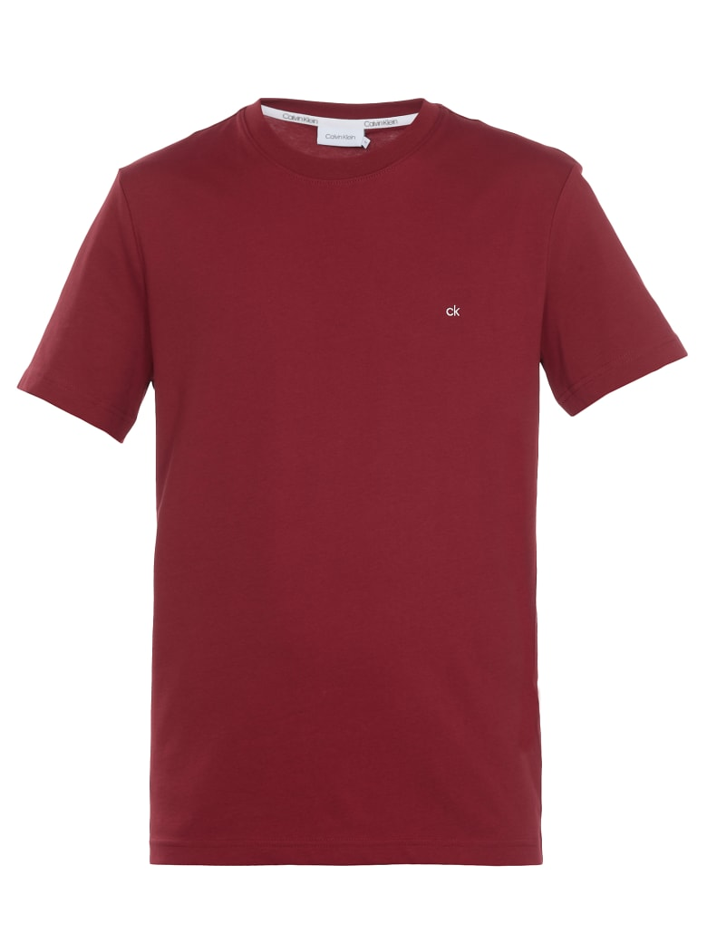 Calvin Klein Ck T-shirt - CK BRIGHT BURGUNDY