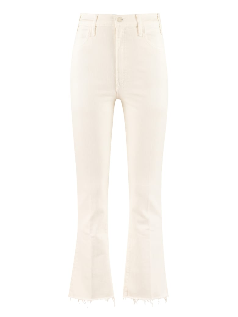 Mother The Hustler Ankle Fray Cropped-fit Jeans - panna