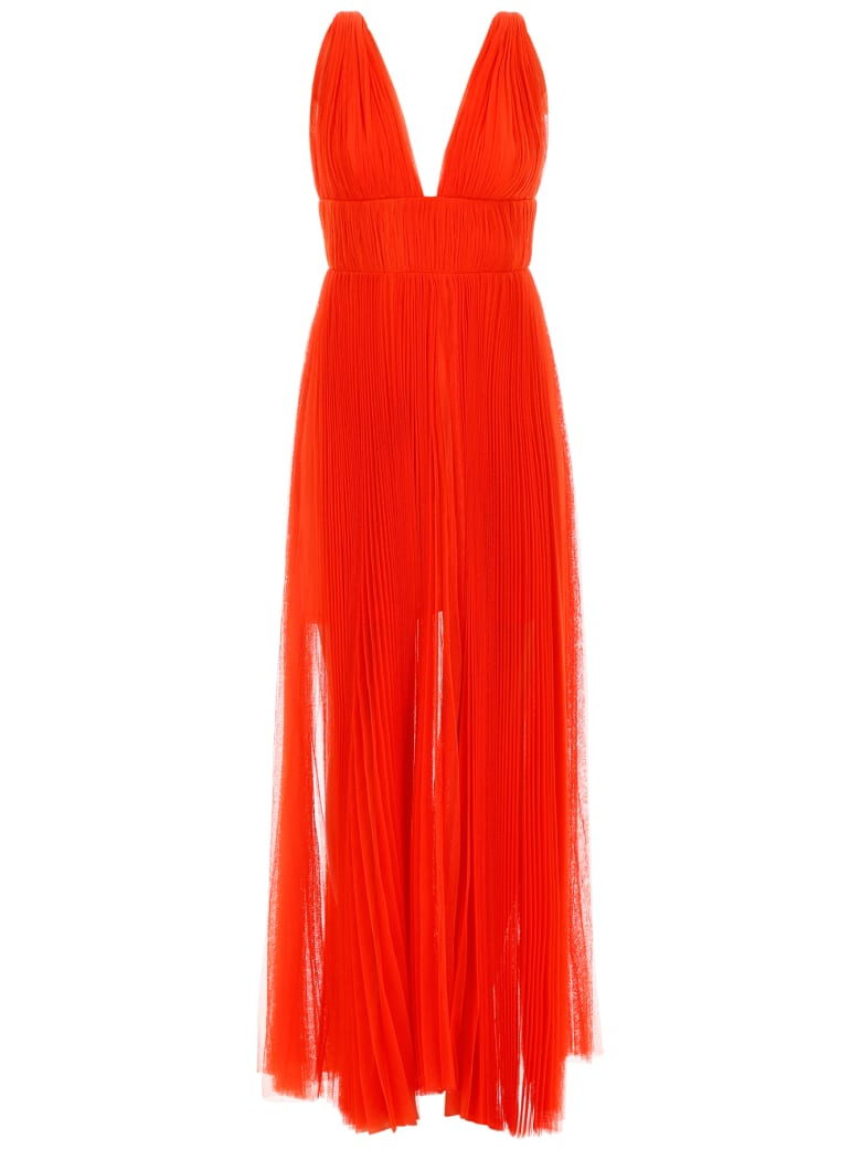 Maria Lucia Hohan Long Pleated Dress - GRENADINE (Red)