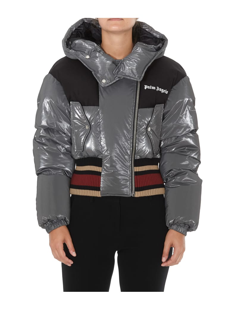 Palm Angels Bomber Down Jacket - Grey