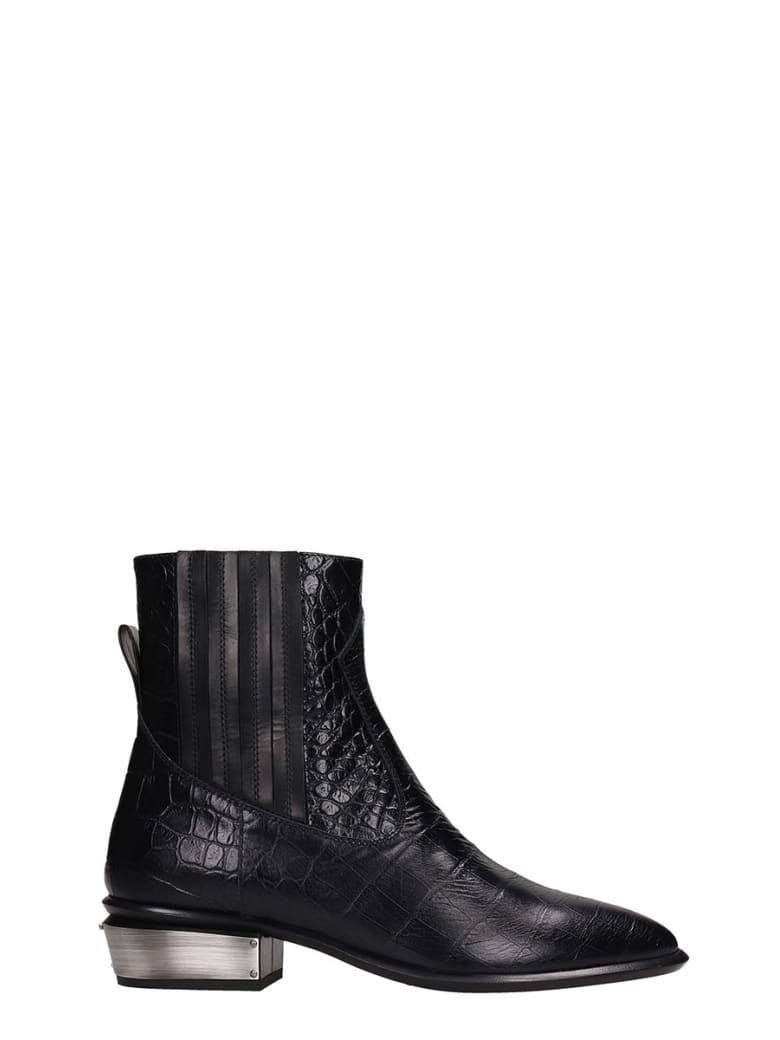 Kate Cate Cowboy Kate Ankle Boots In Black Leather - black