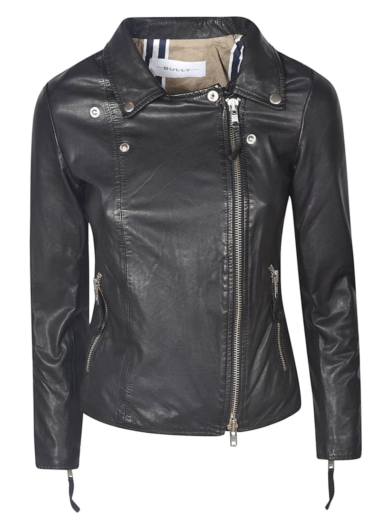 Bully Zip Biker Jacket - Black