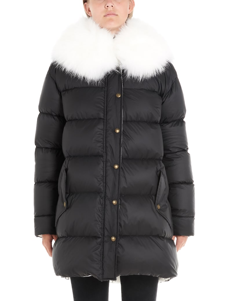 Mr & Mrs Italy 'a-line Puffer' Jacket - Black&White