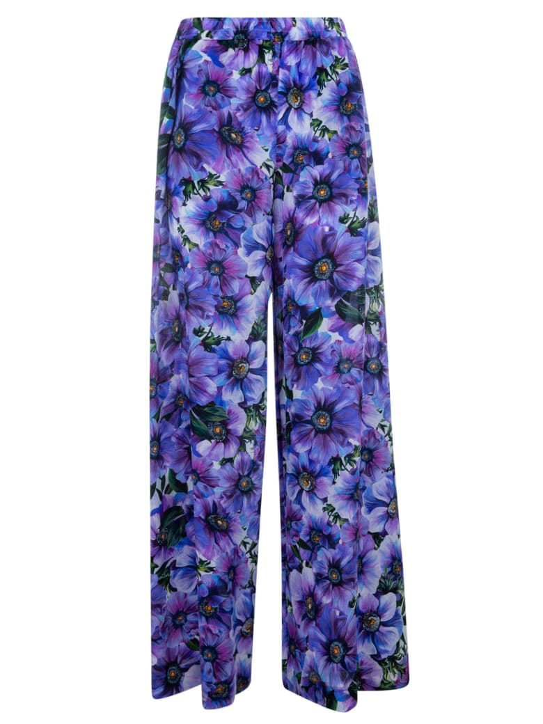 Dolce & Gabbana All-over Floral Printed Trousers - Viola