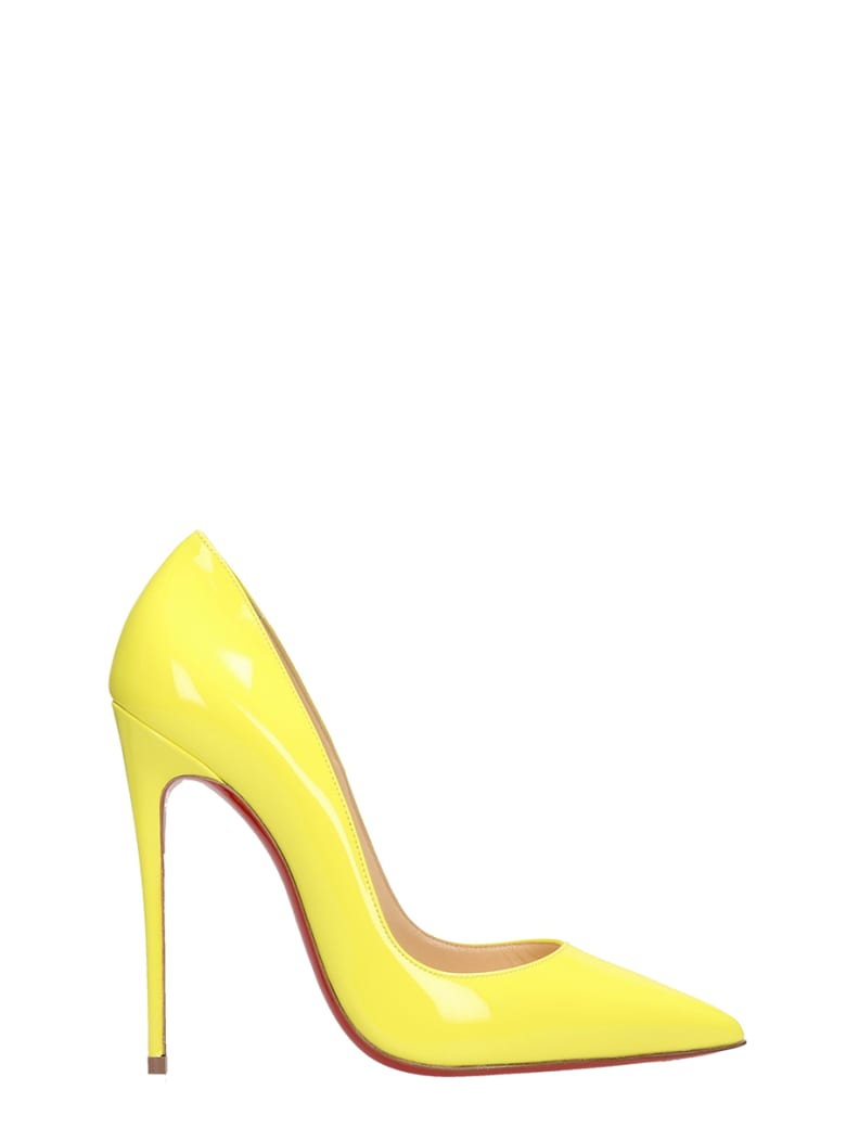 reputable site 6beef 3b9fd Best price on the market at italist | Christian Louboutin Christian  Louboutin So Kate 120 Yellow Patent Leather Pumps