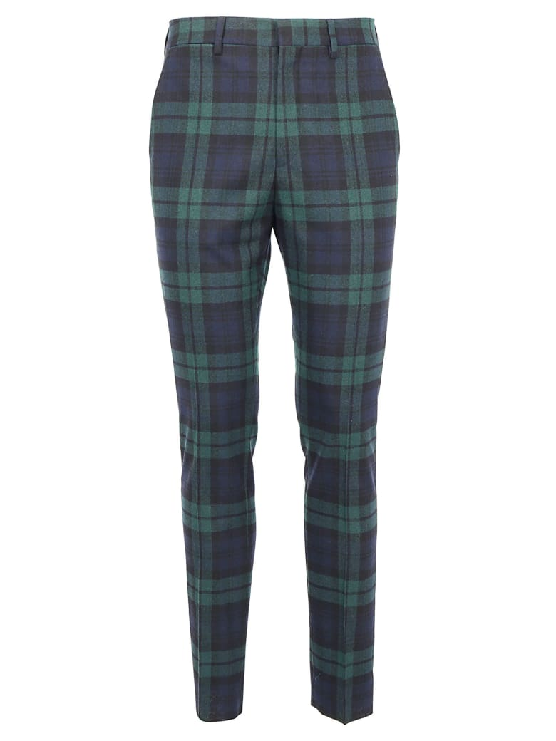Golden Goose Golden Pants - Black green tartan check