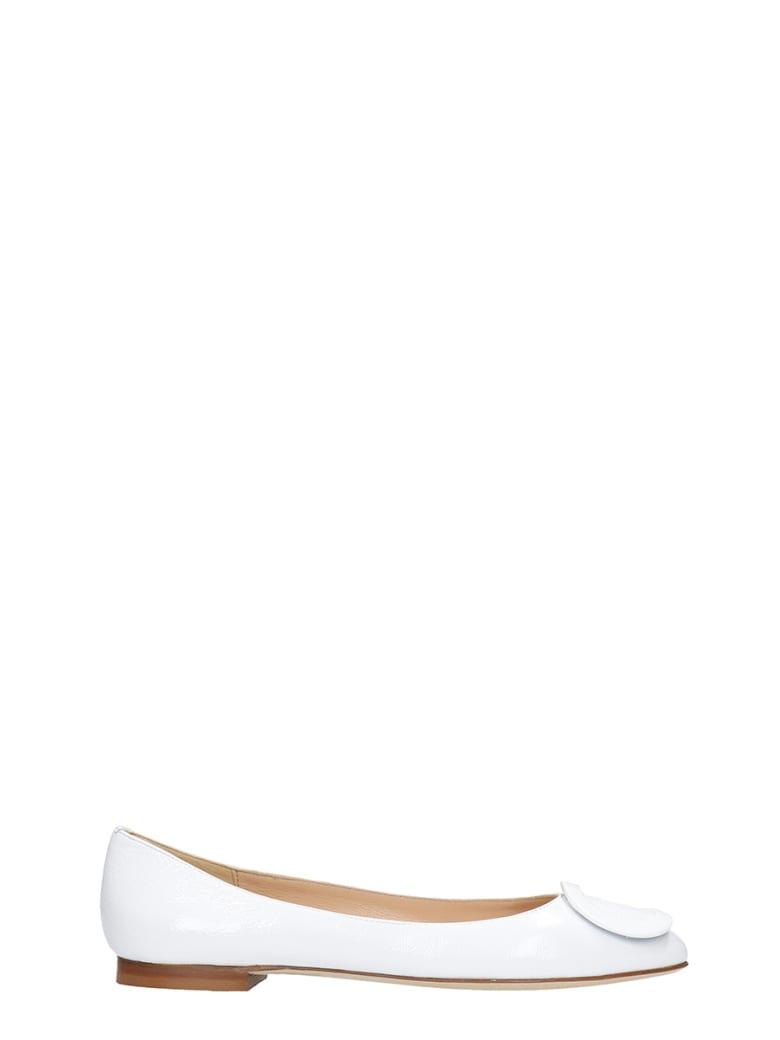 Fabio Rusconi Ballet Flats In White Leather - white