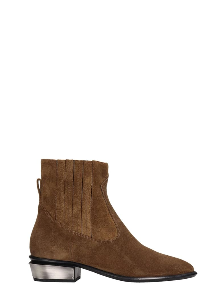 Kate Cate Cowboy Kate Ankle Boots In Leather Color Suede - leather color