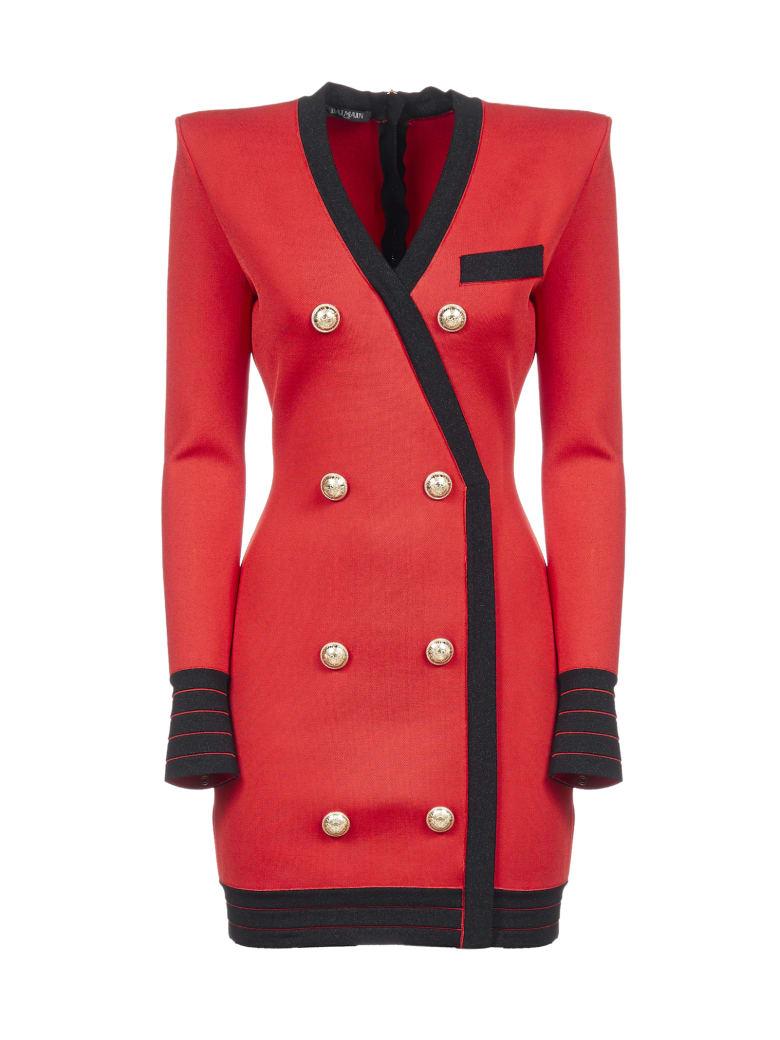 Balmain Dress - Rouge noir