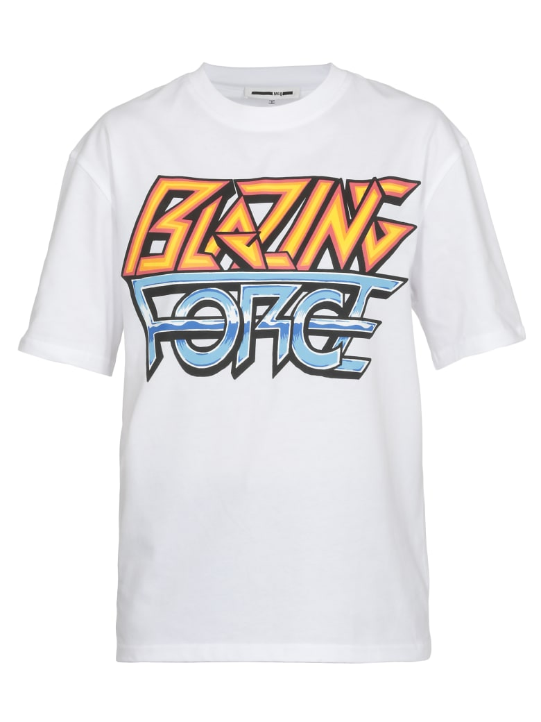 McQ Alexander McQueen T Shirt Blazing Force Print - OPTIC WHITE