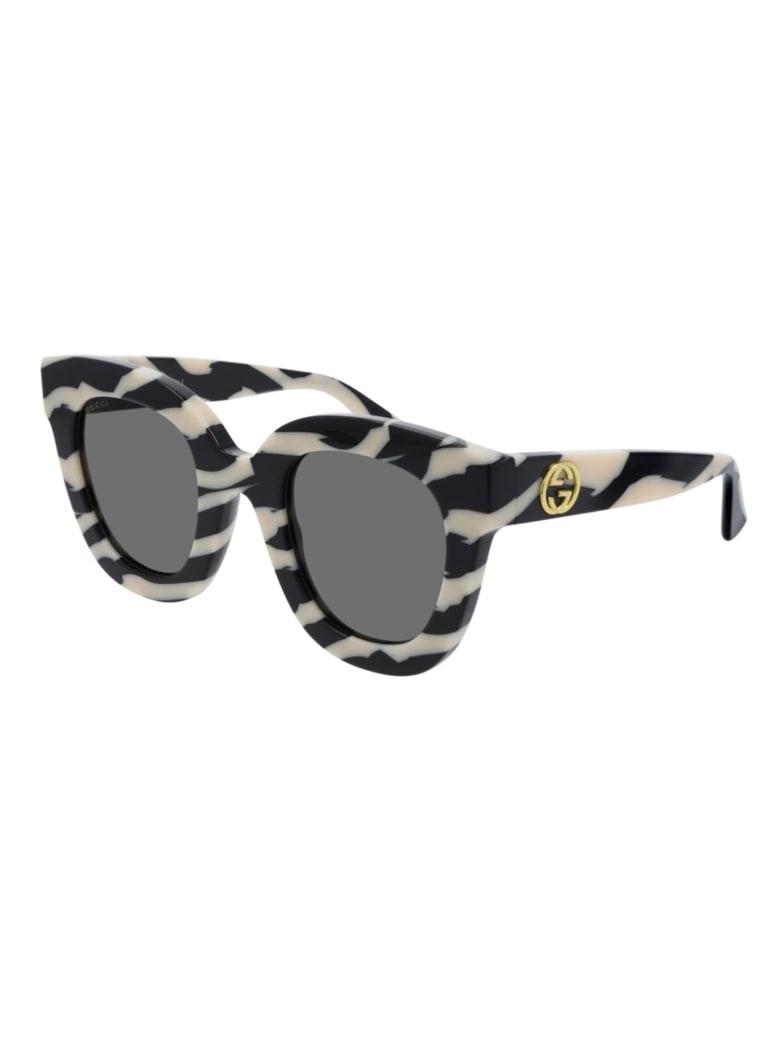 Gucci GG0116S Sunglasses - Black Black Grey