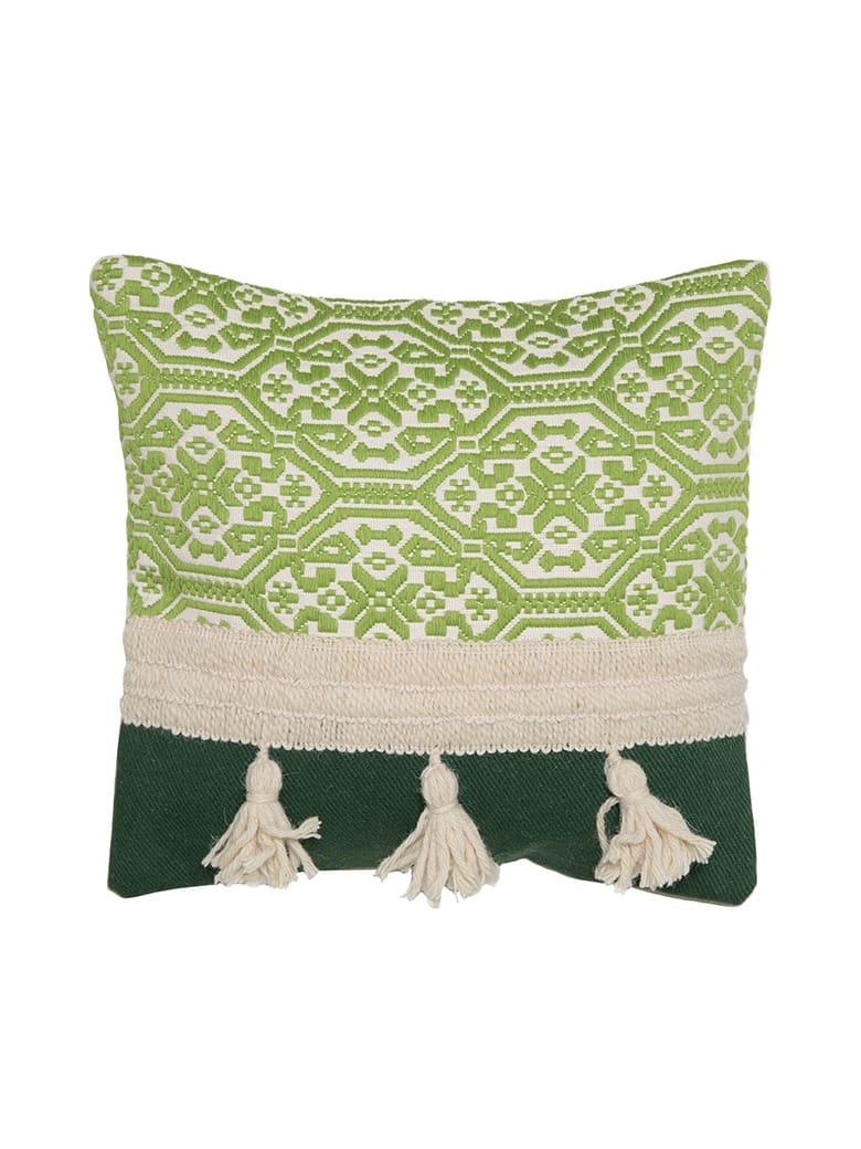 Le Botteghe su Gologone Cushions Trama 50x50 Cm - Green Fantasy
