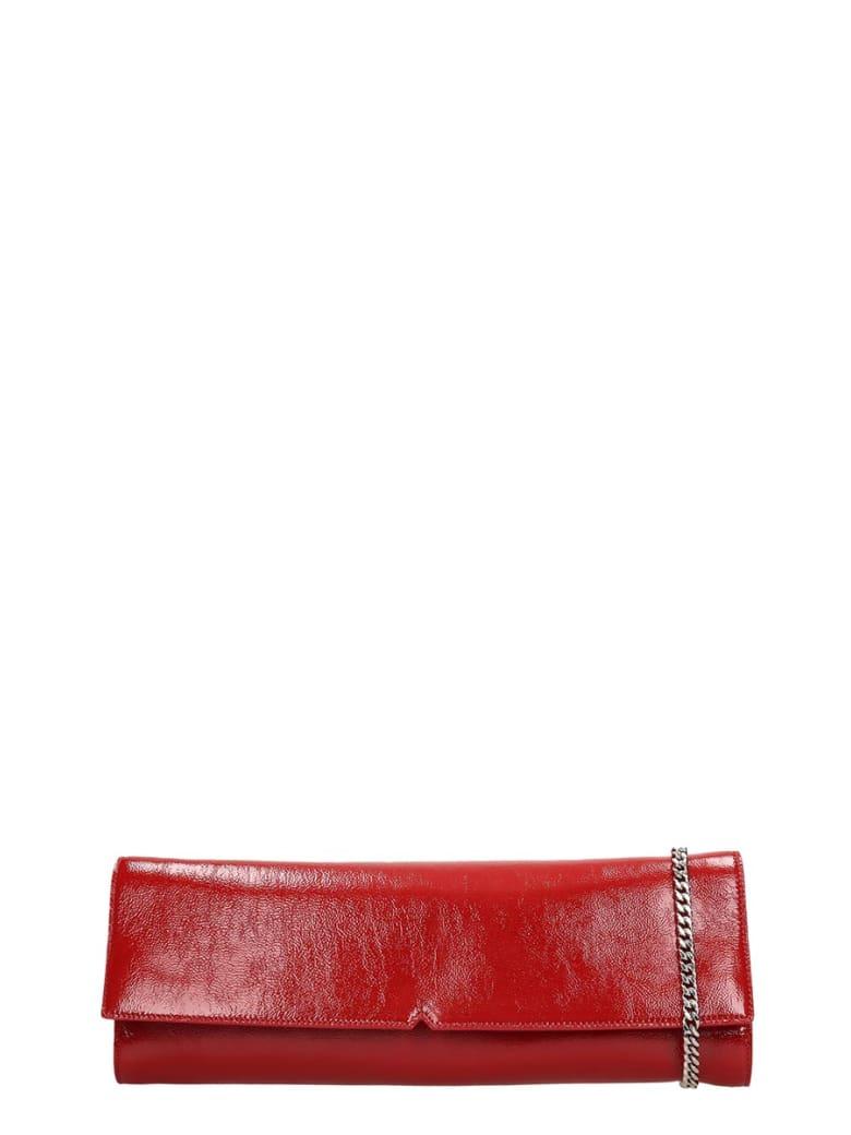 Giuseppe Zanotti Lorelai Clutch In Red Leather - red