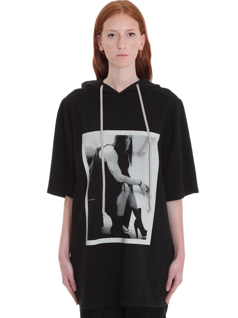 DRKSHDW Jumbo Hoodie T-shirt In Black Cotton - black