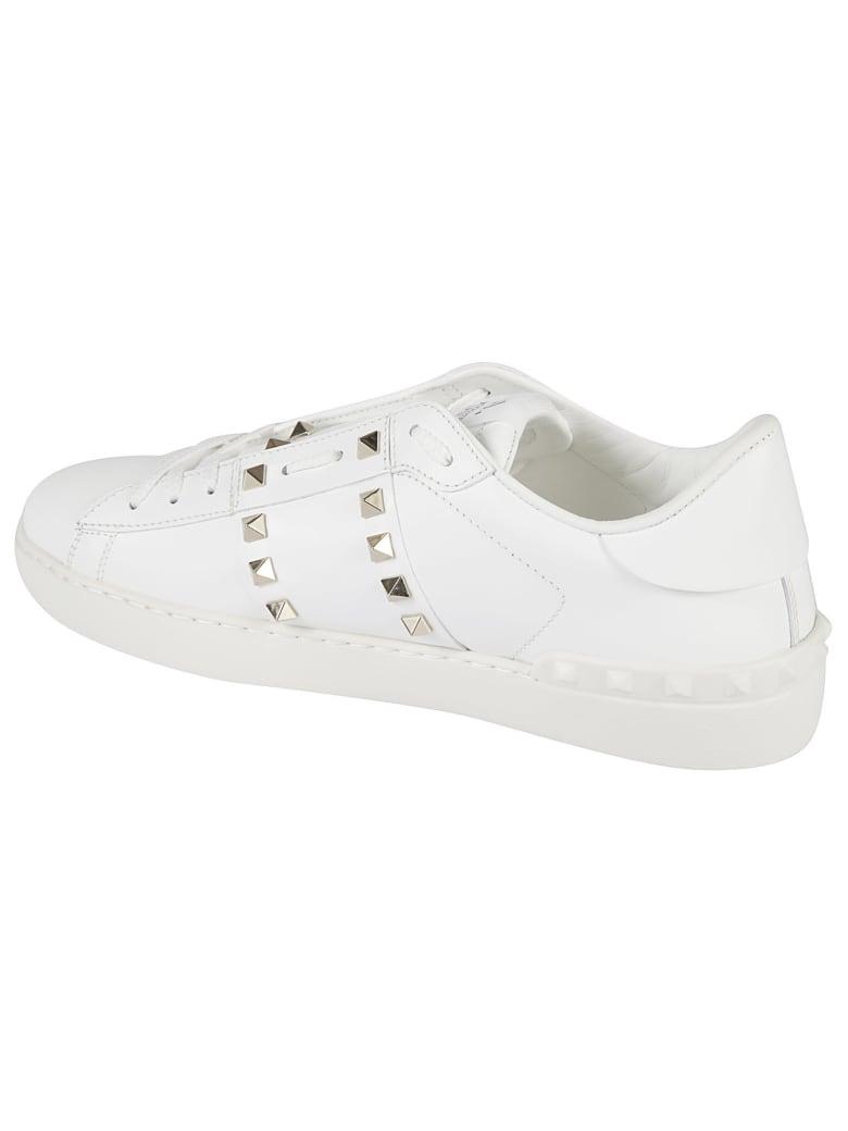 Valentino Garavani Rockstud Sneakers - White/Black