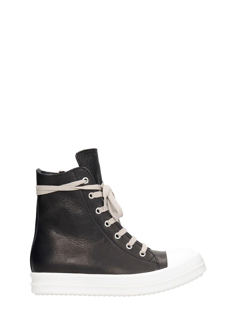 Rick Owens Sneakers In Black Leather - black