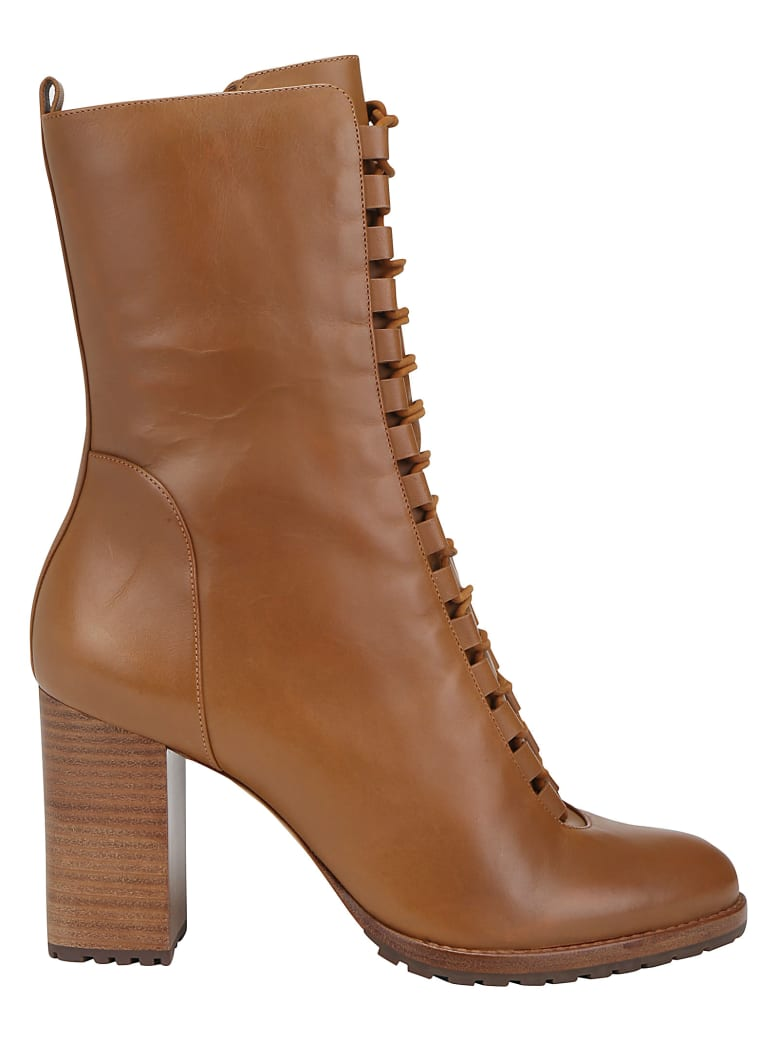 Alexandre Birman New Combot Boots - Walnut