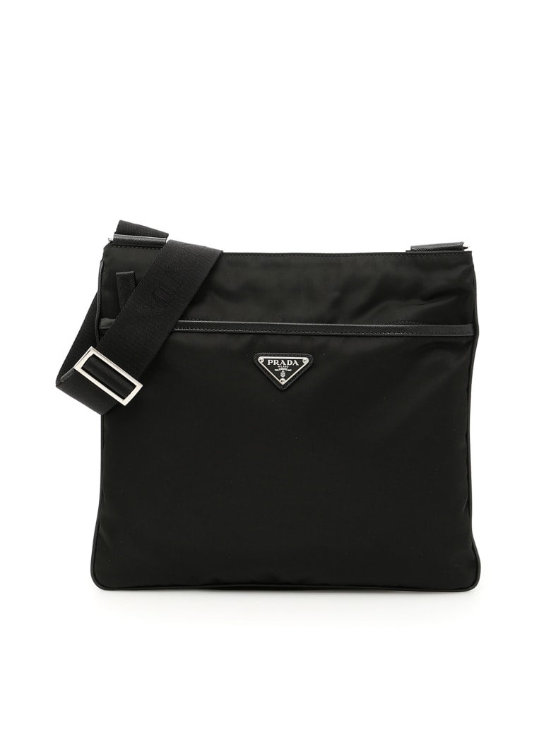 Prada Twill And Saffiano Travel Bag - NERO (Black)