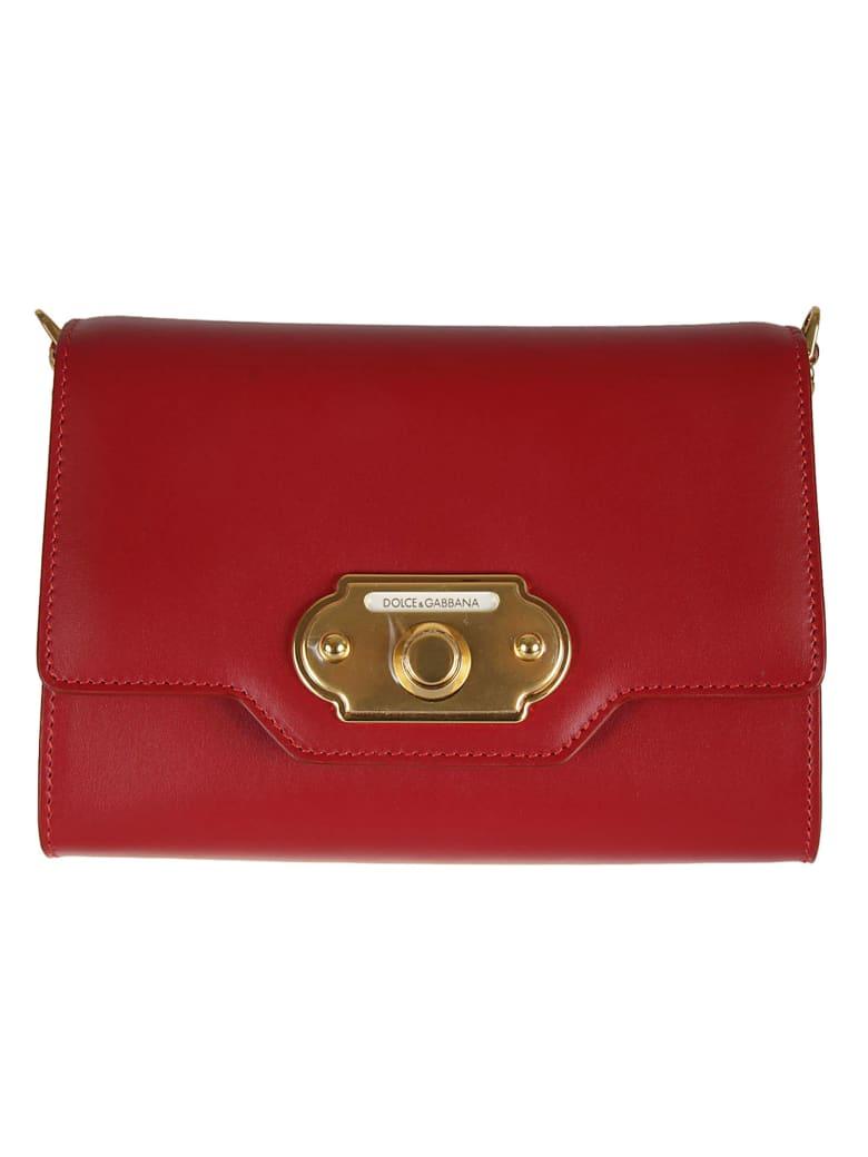 Dolce & Gabbana Logo Plaque Shoulder Bag - Rosso Papavero