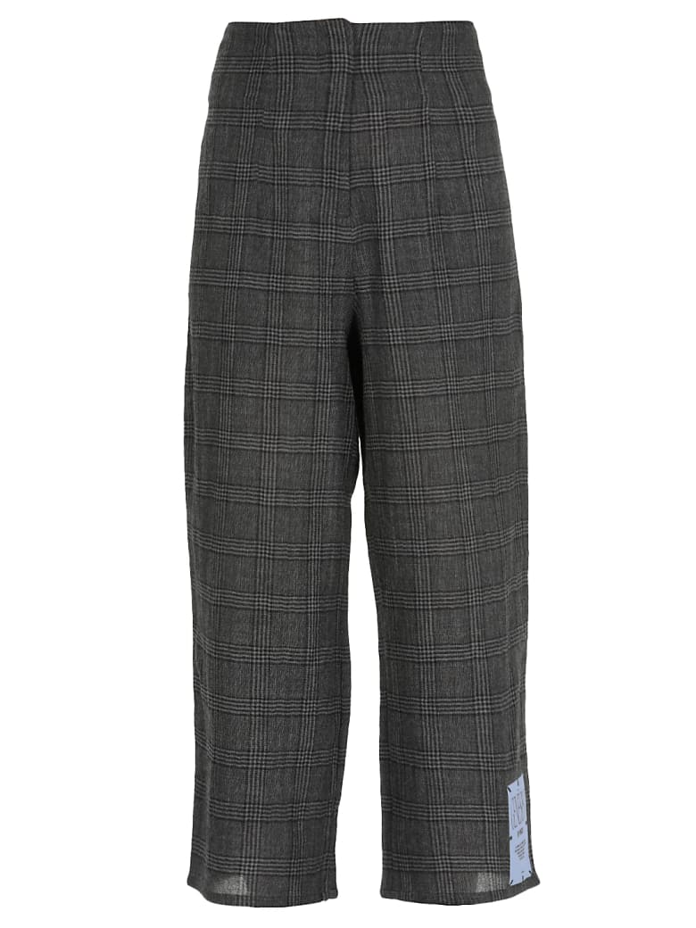 McQ Alexander McQueen Glan Check Genesis Ii Trousers - CHARCOAL