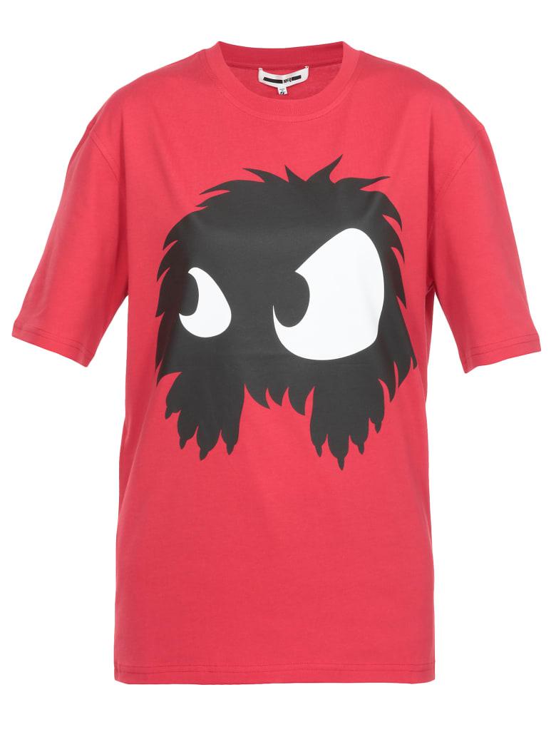 McQ Alexander McQueen T-shirt Monster Print - CRIMSON