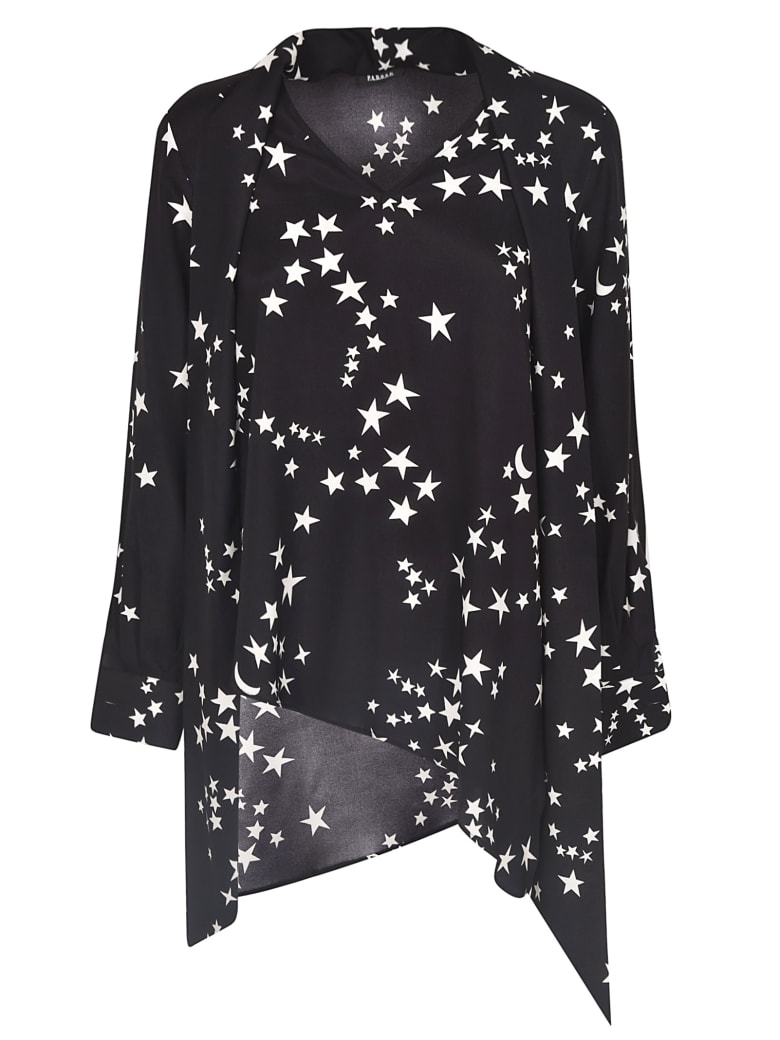 Parosh Star Printed Blouse - Black/White