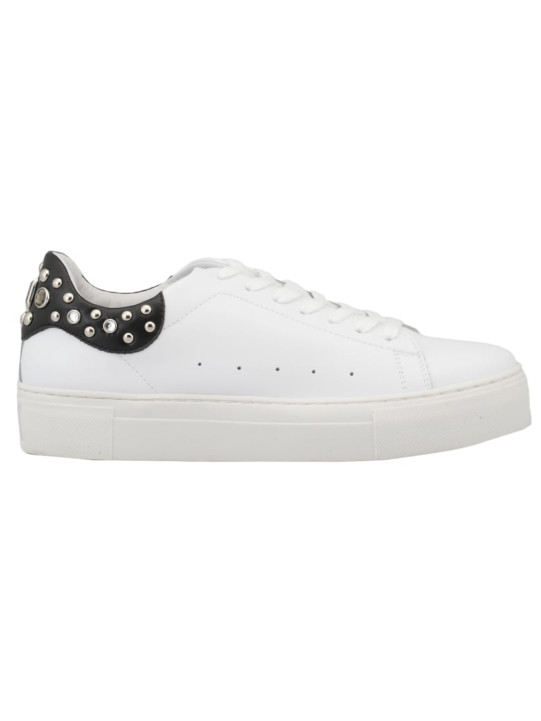 Cult Smooth Leather Sneaker - WHITE/ BLACK