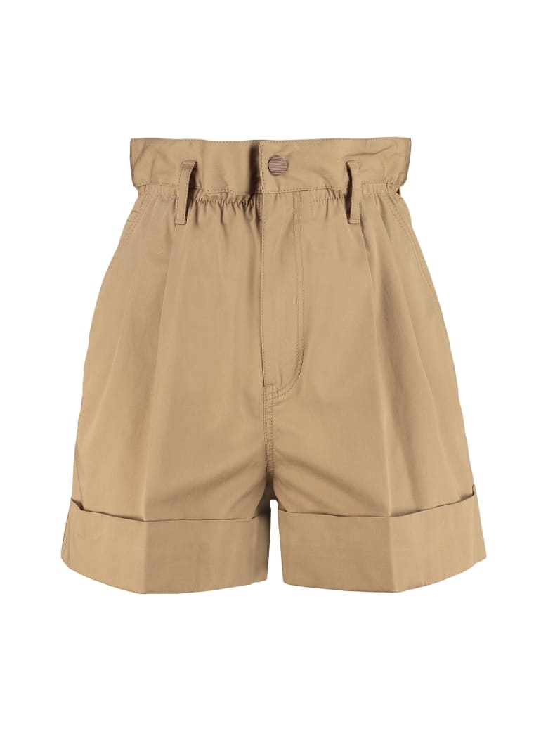 Moncler Techno Fabric Shorts - Kaki