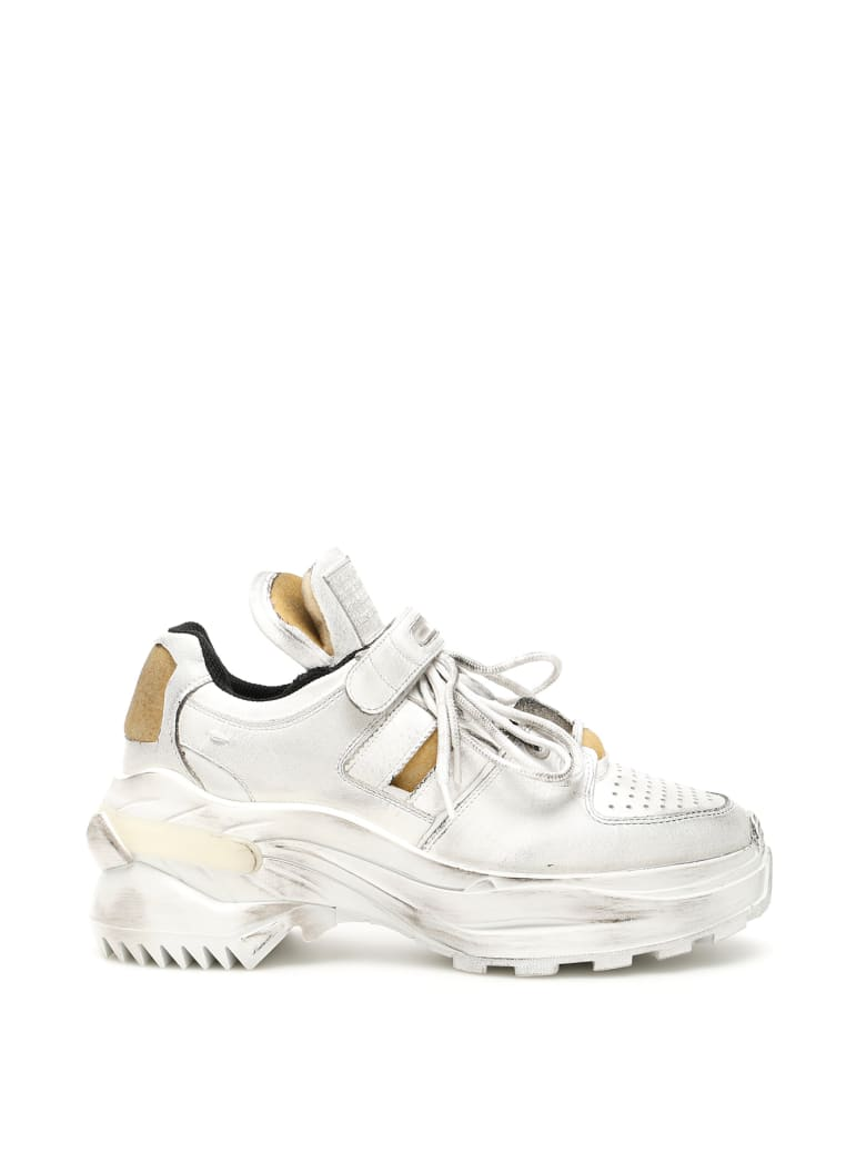 Maison Margiela Retro Fit Sneakers - WHITE BLACK RAVEN (White)