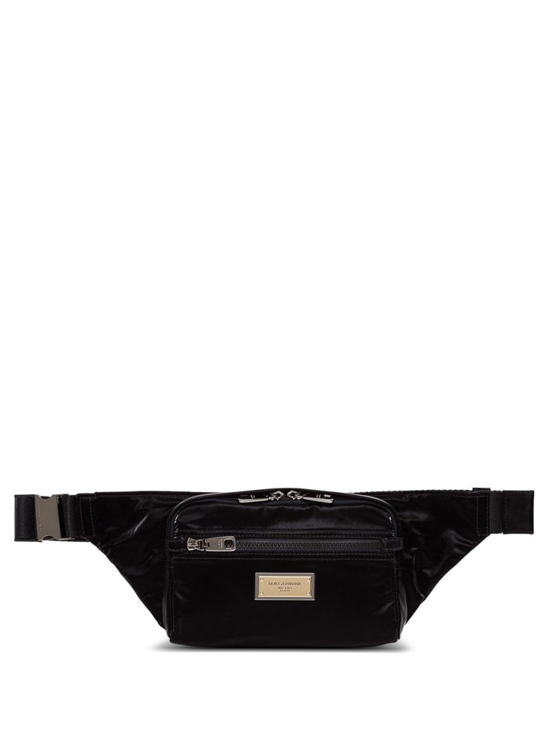 Dolce & Gabbana Waist Bag In Shiny Nylon - Black