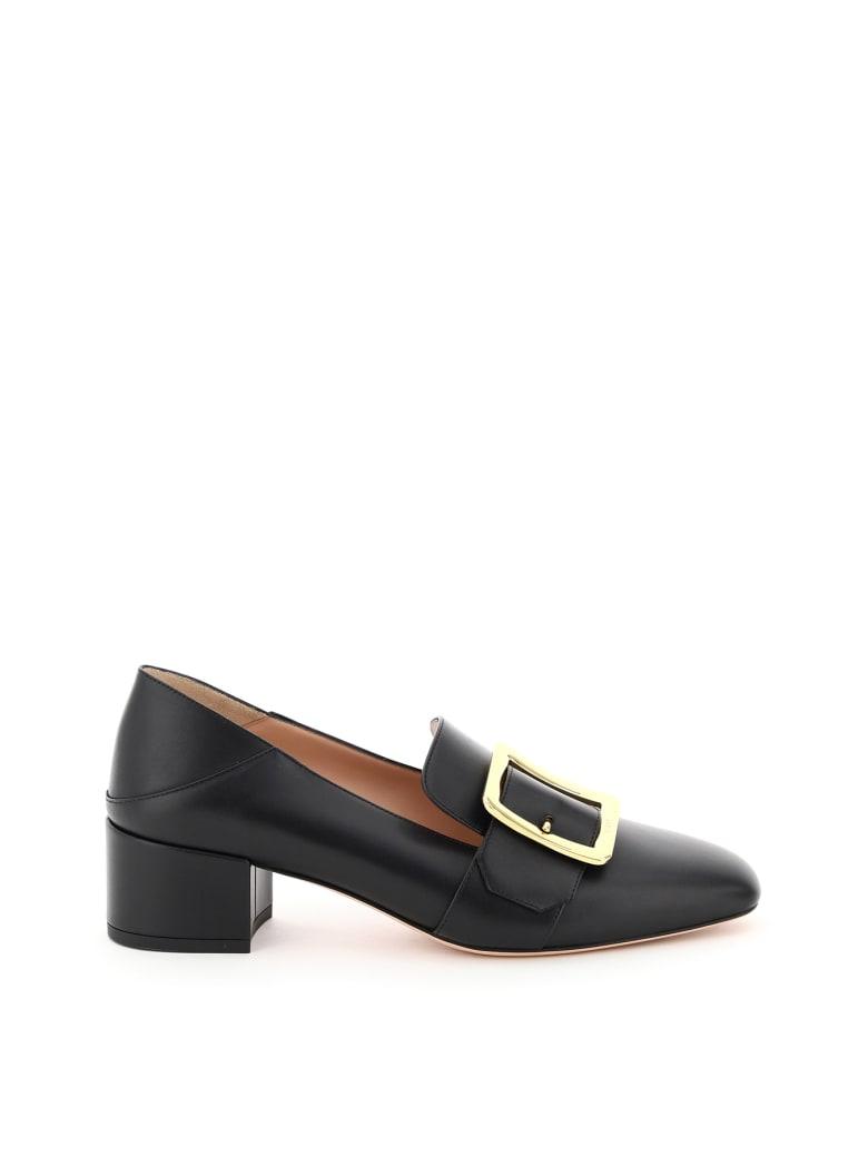 Bally Janelle Leather Loafers - 0100 BLACK (Black)