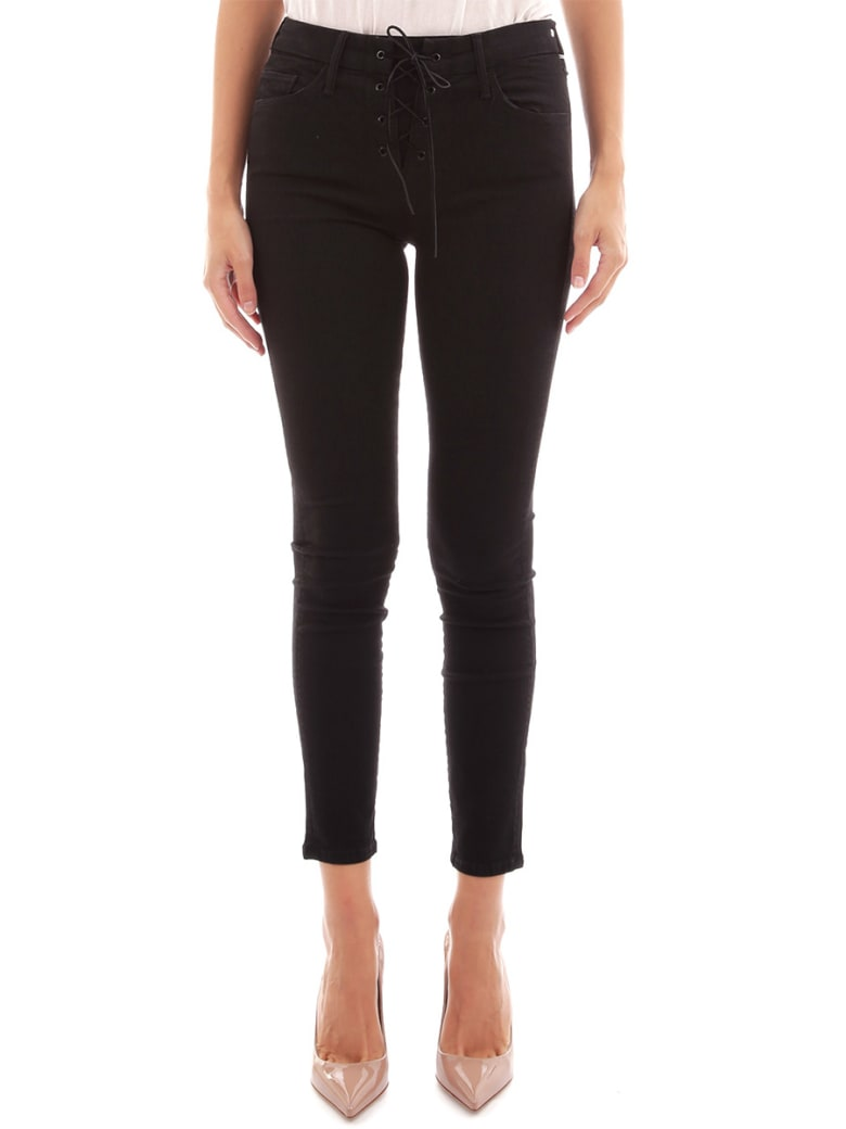 Mother Black Jeans With Laces - Black