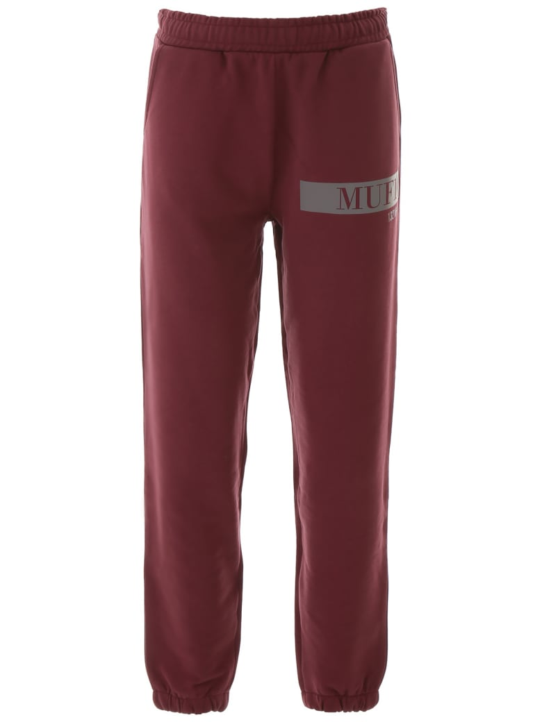 MUF10 Logo Joggers - FIG (Red)