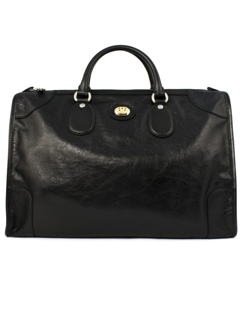 Gucci Black Soft Leather Duffle - Nero