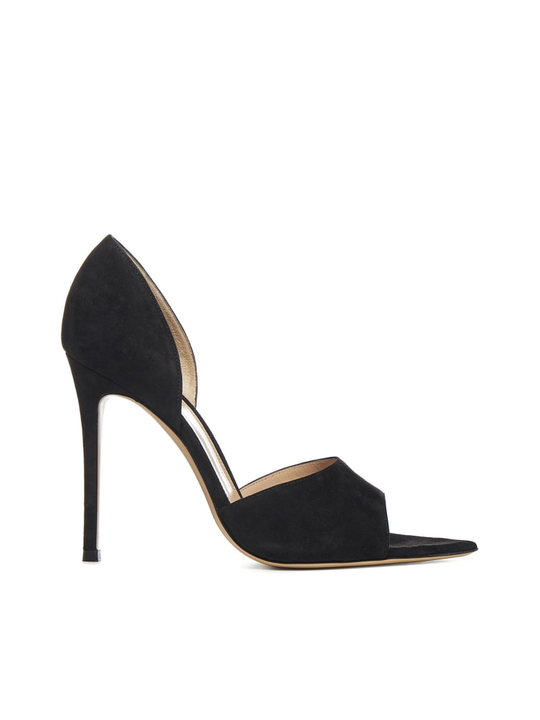 Gianvito Rossi Bree Suede Sandals - Black
