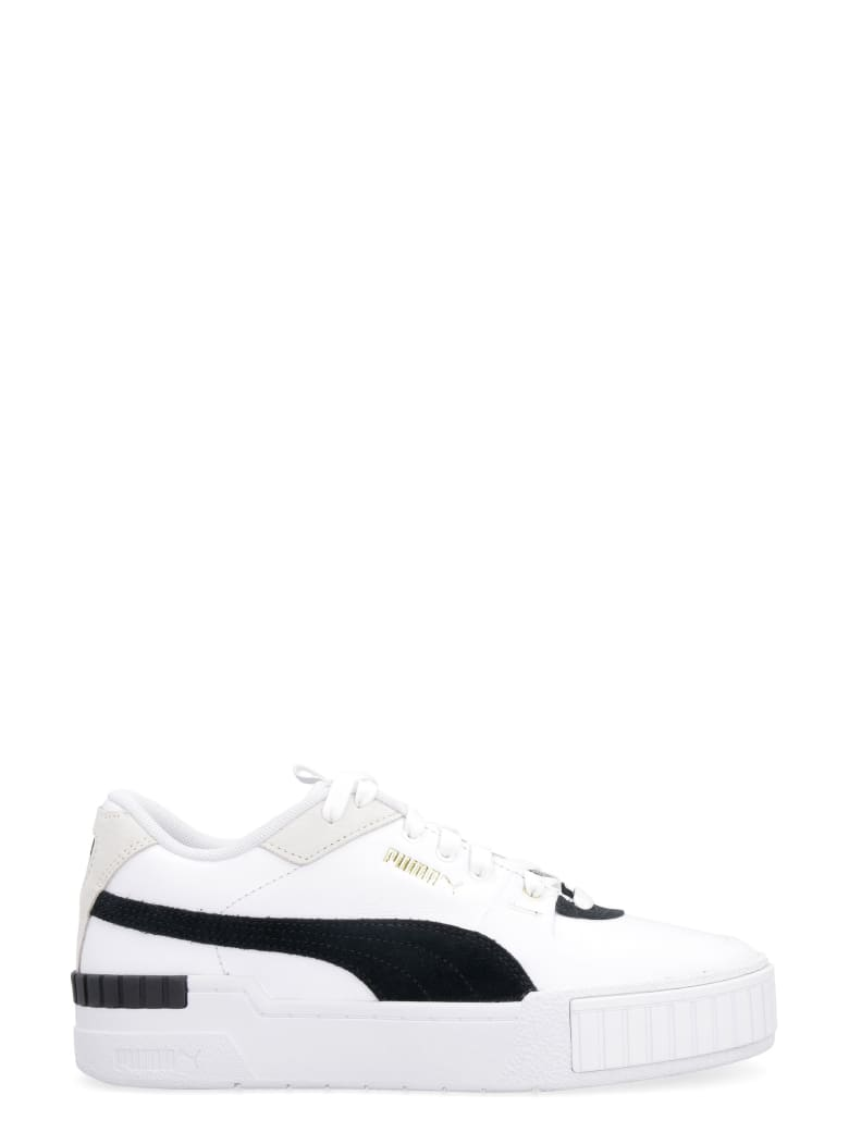 Puma Cali Sport Leather Sneakers - White