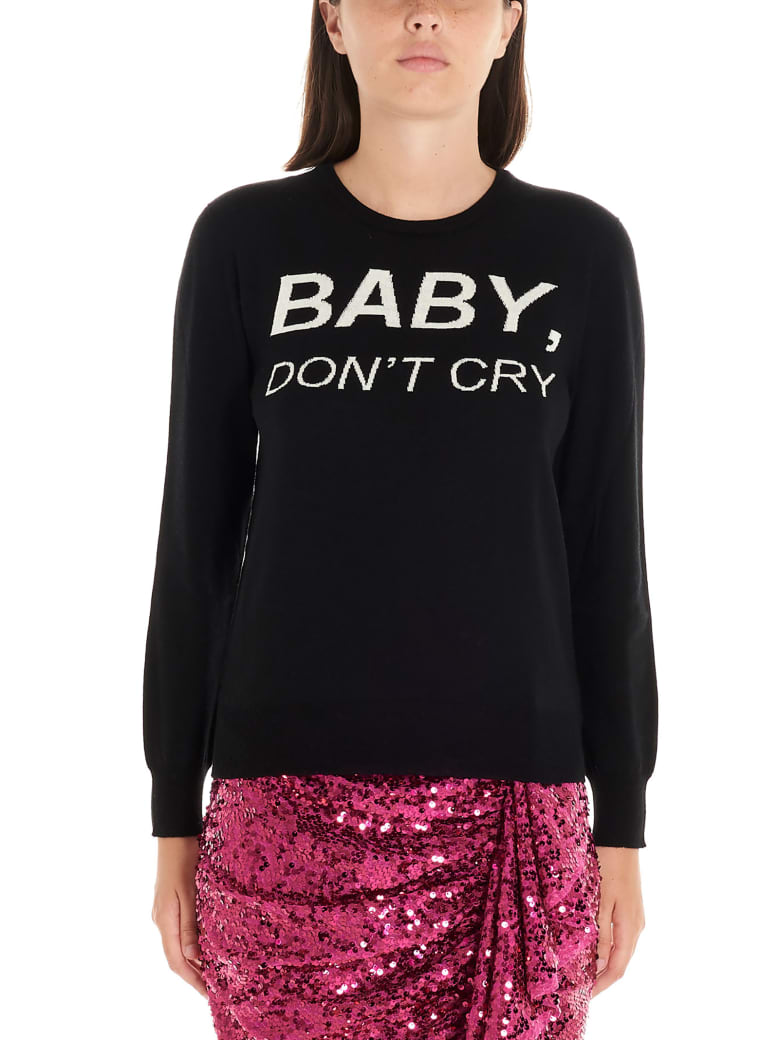 Nervure 'baby Don't Cry' Sweater - Black