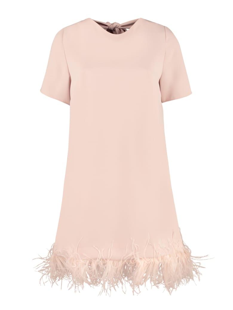 Parosh Feather Dress - Pink