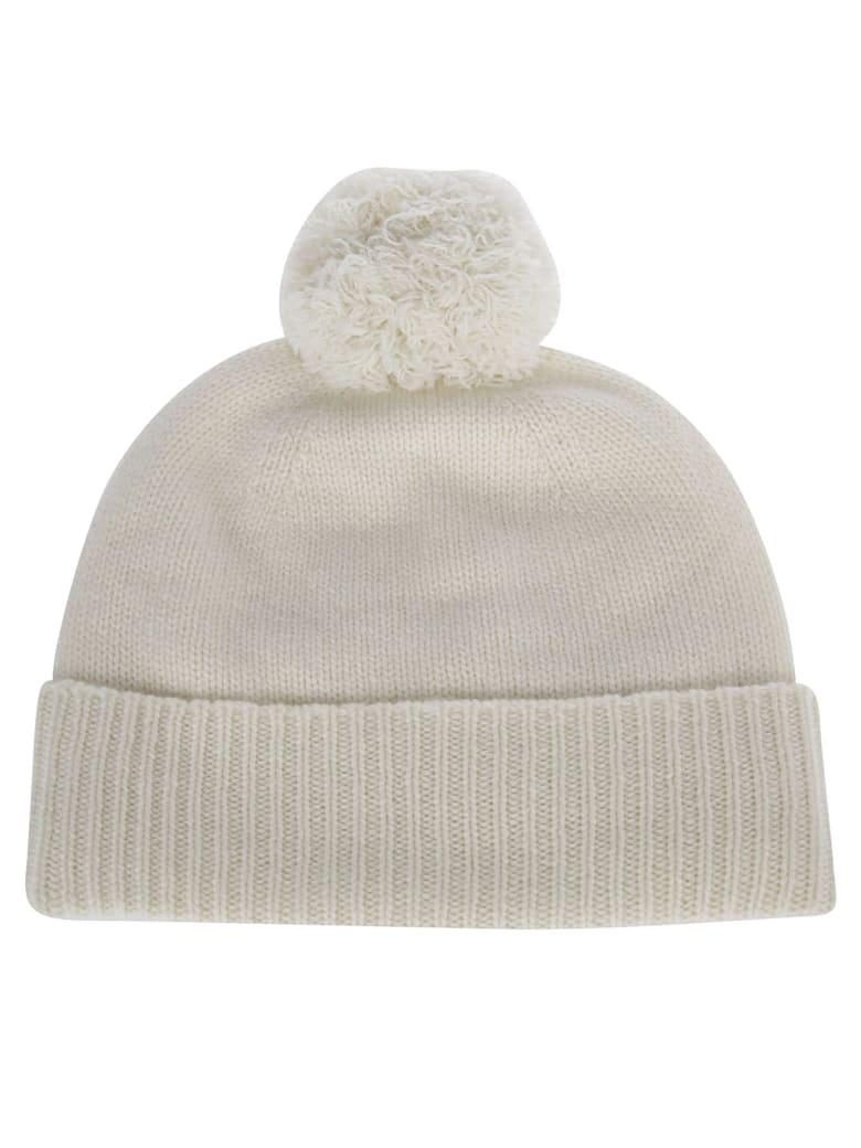 Agnona White Cashmere Blend Hat - White