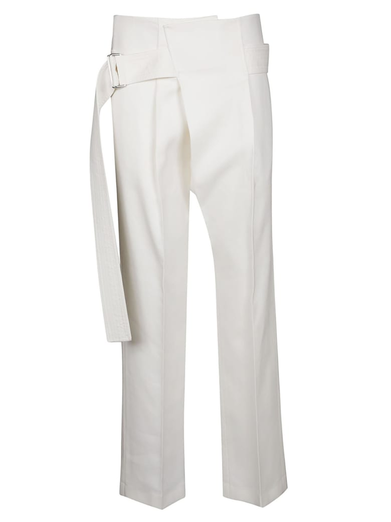 Victoria Beckham Belted Trousers - White