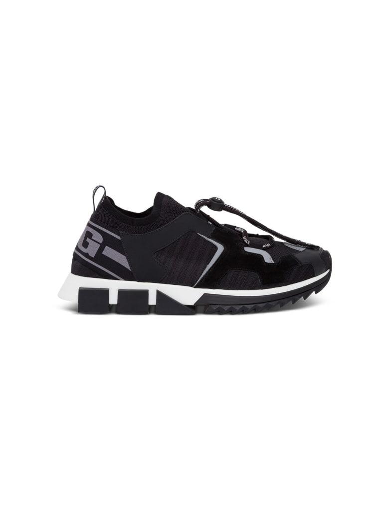 Dolce & Gabbana Blend-material Sorrento Trekking Sneakers - Black