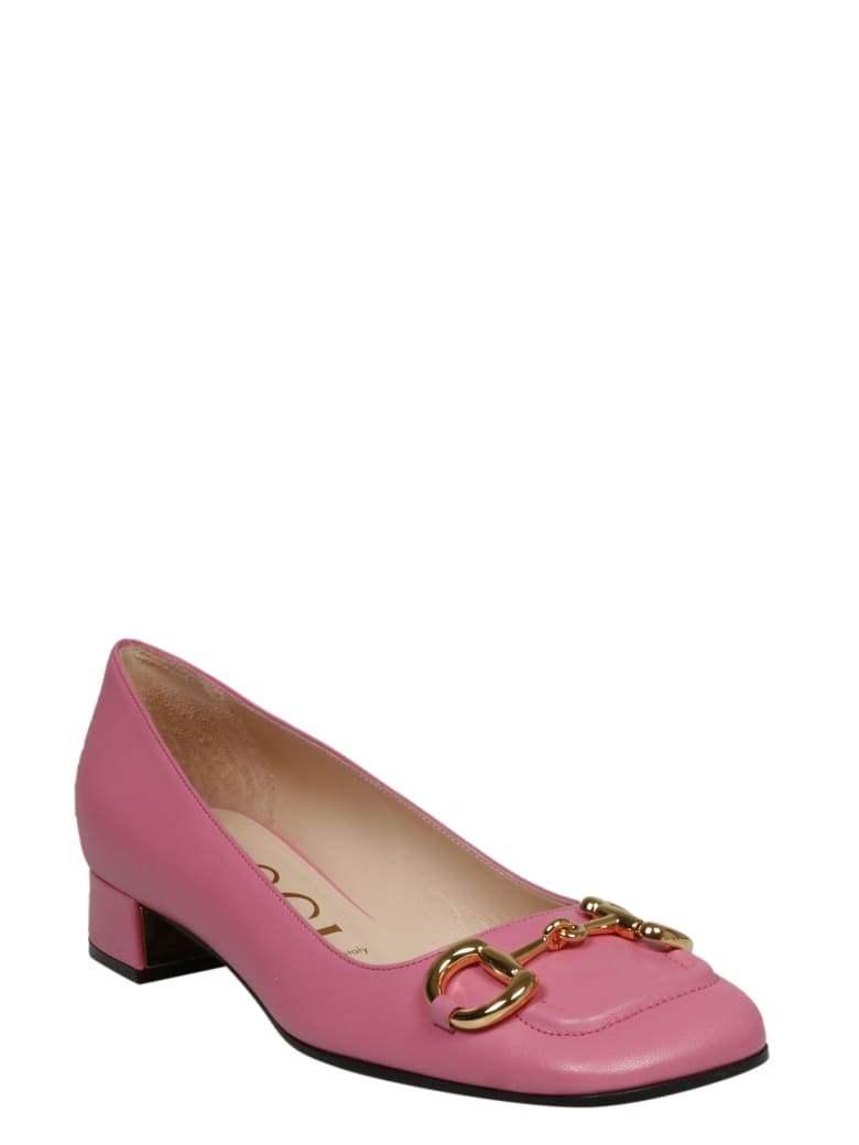 Gucci Clamp Leather Ballerinas - Pink & Purple