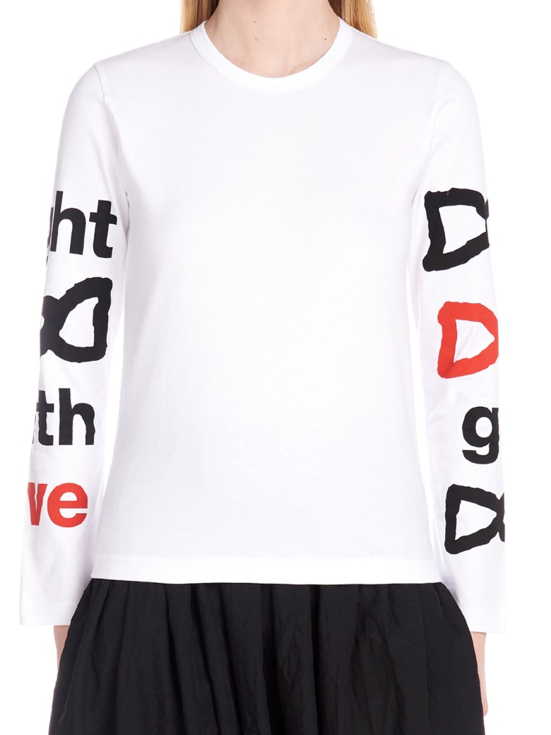 Comme Des Garçons Girl 'fight With Love' T-shirt - White
