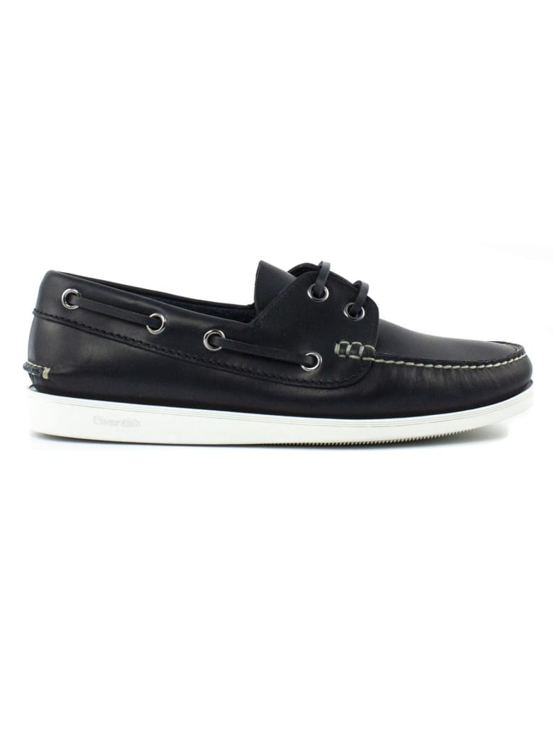 Church's Blue Leather Boat Shoes - Blu