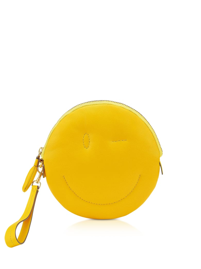 Anya Hindmarch Soft Nappa Soleil Wink Chubby Clutch - Yellow