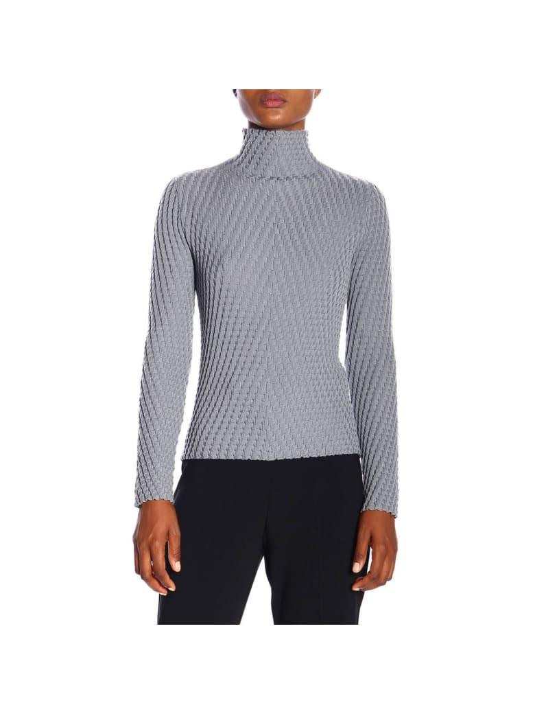 Giorgio Armani Sweater Giorgio Armani Turtleneck In Fancy Wool - grey