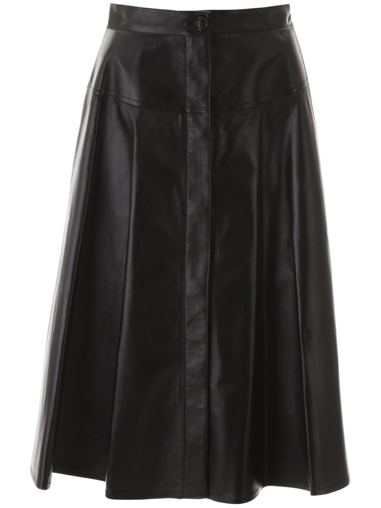 Marni Leather Skirt - BLACK (Black)